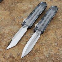 ingrosso coltello a doppia azione scarafaggio-Theone Scarab trasparente doppia azione tattica autodifesa pieghevole coltello edc coltello da campeggio coltelli da caccia regalo di natale