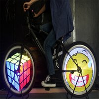 programmierbare led-bildschirme großhandel-DIY Fahrrad Licht 128 LED Programmierbare Fahrrad Speiche Rad LED-Licht Doppelseitiges Display Bild für Nacht Radfahren 2017