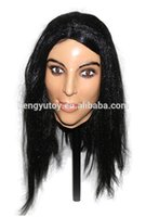 женские маски для секса оптовых- New Realistic latex Adult Female mask full head Deluxe Female beauty Sex Mask