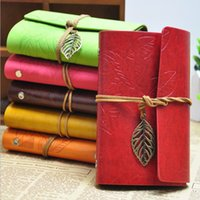 Wholesale hot piece travel journal korea notplanner vintage leather notwith leaf ring binder waterproof