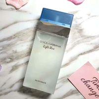 парфюмерные бутылки синие оптовых-2019SS Новый светло-синий нейтральный парфюм классический квадратный флакон со свежим парфюмерным макияжем спрей стеклянная бутылка 100 мл3.4FL OZ