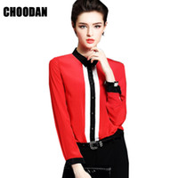 Wholesale Ladies Tops Blouses Wholesale - Women Tops And Blouse New Arrival Spring 2018 European Chiffon Blouse Shirt Black Long Sleeves Ladies Top Office Female Clothing