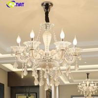 küchenkugel deckenleuchten großhandel-Moderne Luxus LED Kristall Kronleuchter Deckenglanz de Kristallkugeln Anhänger Hängelampe Home Küche Leuchten