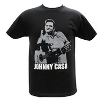 camisa de johnny al por mayor-Verano 2018 famosa marca Johnny Cash bordado gráfico camisetas Cartoon camiseta homme de alta calidad top tees