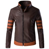 Wholesale leather jacket online - men Wolverines James Logan Howlett Costume PU Jacket Men Motorcycle Leather Jackets Winter Jaqueta The Black Friday Coat XL