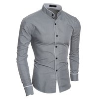 Wholesale white collar shirts for men resale online – Broadcloth Fashion New Long Sleeve Shirts Men Korean Slim Design Cotton Casual Male Dress Shirts Summer Autumn Shirts for Man