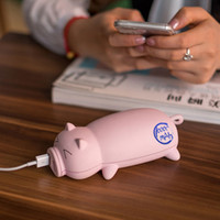Wholesale iphone design power bank online - Adorable Piggy Design Portable Dual USB Port Power Bank mAh For Iphone phone charger portable charger