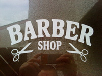Wholesale vinyl wall word decals - Barber Shop Window Door Salon Vinyl Graphic Wall Art Hair Cut Interesting Fashion Sticker Decals