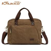 Wholesale kaukko bags for sale - Group buy Kaukko Cotton Canvas Handbag Cross Body Messenger Shoulder Handbag Briefcase Bag School Handbag for Men Women
