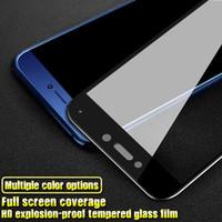 huawei, p7 kapakları kaldırdı toptan satış-3D Yumuşak Kenar Tam Kapak Temperli Cam Için Huawei P Akıllı Mate 10 Lite Onur 6C P8 Lite 2017 Yumuşak Kavisli Ekran Koruyucu Için iPhone