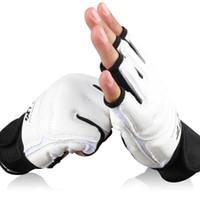 Wholesale sandbag for mma for sale - Half Finger Fight Boxing Gloves Mitts Sanda Karate Sandbag TKD Protector for Boxeo MMA Muay Thai Kick Boxing Training Gear