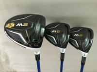 Wholesale regular flex graphite driver shafts - 3PCS M2 Woods M2 Golf Wood Set Golf Clubs Driver + Fairways Regular Stiff Flex Graphite Shaft With Head Cover