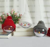 süs dekalseri toptan satış-Kardan Adam Süsler Noel Tress Asılı Süslemeleri Top Şeffaf Temizle Süs Çocuklar Iyilik Pandent Çıkartmaları Parti Malzemeleri