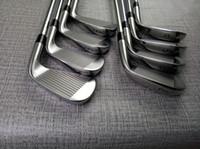 ferros ajustados da esquerda venda por atacado-Mão esquerda 8 PCS A3 718 Iron Set 718 A3 Golf ferros forjados mão esquerda Golf Clubes 3-9Pw R / S Aço Flex / grafite Shaft com cabeça Cover