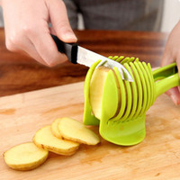 Wholesale cooked tomato - Manual Fruit Vegetable shredders Tomato potato Lemon Cutter slicers Assistant kitchen Cooking Holder Kitchen Tools Accessories
