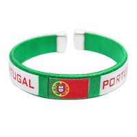 Wholesale soccer cup souvenir resale online - Soccer Souvenir Russia World Cup Lappet Thread Hand Ring Football Fan Countries Flags Bracelet Increase The Atmosphere yb Y