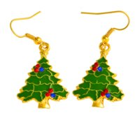 ingrosso spilla nuova lega-2018 nuovi orecchini pendenti in lega ecologica di alta qualità Regalo di Natale Orecchini con spilla di albero di Natale
