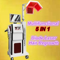 Wholesale Hair Rollers Machines - 650nm diode laser hair regrowth derma roller for hair loss treatment growth hair low level laser therapy lllt machine