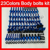 Wholesale Kawasaki Zx12r Body Fairings - Fairing bolts full screw kit For KAWASAKI ZX12R 02 03 04 05 06 ZX 12R ZX-12R 2002 2003 2004 2005 2006 Body Nuts screws nut bolt kit 23Colors