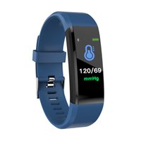 Wholesale mobile home screens - Authentic 115 Plus Smart Wristband For iPhone Android Smart Mobile Phone 90mAh Battery Message Reminder Touch Screen Colorful Bracelets