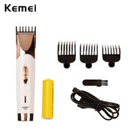 Wholesale Kemei Trimmer Cut - Kemei Professional Hair Clipper Cordless Rechargeable Hair Trimmer Electric Beard Shaver Razor Cutting Machine With 3 Combs