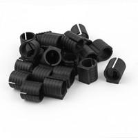 ingrosso sedie in plastica nera-Scivolare del pavimento della sedia di forma di U della base rotonda di U di plastica nera dei 19 pc di 24 pezzi