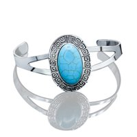 Wholesale geometric bracelets for sale - Turquoises Bracelet Bangle for Women Men Fashion Jewelry Boho Bohemia Vintage Geometric Bangle Gift Charm Bracelet Open Cuff Bangle