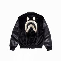 schwarze strickjacke aus baumwolle großhandel-Mann schwarz Druck Baumwolle Plüsch Hoodie Tarnung Revers Strickjacke Bewegung Freizeit Pullover Mode Trend Pullover lose Mantel Jacke