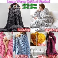 hilos para tejer ganchillo al por mayor-manta completa Súper Grueso Acrílico Chunky Yarn Bulky Roving Big Hand Knitting Yarn Spinning Knitting Crochet