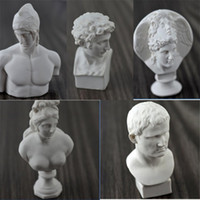 Wholesale drawings sketches for sale - Group buy Single Mini Plaster Head Portrait American Style Sculpture Resin Plaster Character Sketch Draw Model Easy To Use zp dd