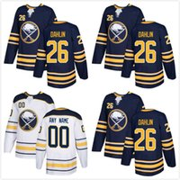 Wholesale quick picks - Newest 26 Rasmus Dahlin 2018 Mens Buffalo Sabres Blank Draft First Round Pick Hockey Jersey White Navy Blue Hot-selling Jerseys