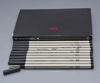 ingrosso ricaricare la penna d'inchiostro blu-Promozione-12 pz / scatola di lusso nero o blu M point Pen Refill per MB penne a sfera scuola forniture per ufficio scrivere fluente 710 ricariche di inchiostro