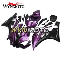 Wholesale customizing yzf r6 resale online - Motorcycle Bodywork ABS Plastics Full Fairing Kit For Yamaha YZF600 R6 YZF Injection Purple Black Body Kits Customized Covers
