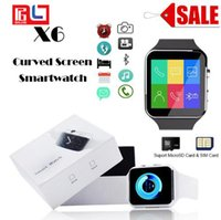 Wholesale wholesale sale smart watch - X6 Smartwatch Sport Watch Phone for All Smart Phone with Camera FM Support SIM Card Retail Sale 5PCS