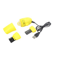 ingrosso mini laptop giallo-Mini Vacuum Keyboard Cleaner Dust Clean Macchina per laptop con connessione USB Keyboard Vacuum Sweeper Brush Yellow