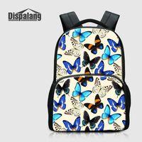 ingrosso notebook per uccelli-Butterfly Parrot School Bag Per Teenage Girls Animal Bird Zaini per Laptop Notebook Bagpacks Canvas Women Zaino Bambino Travel Zaino