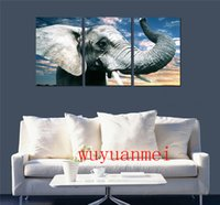 Wholesale home paint oil elephant art for sale - Group buy The Elephant Pieces Home Decor HD Printed Modern Art Painting on Canvas Unframed Framed