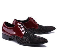 Wholesale Fashoin Shoes - Fashion British new Oxford shoe Hair stylist wedding shoes. fashoin Metal pointed toe British style shoes men,soft oxford shoes male.