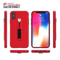 Wholesale Electroplated Iphone Case - Shockproof Protective Cover with Kickstand Electroplate TPU Back Cover For Samsung Galaxy S9 S8 Plus iphone X 8 7 6S Plus