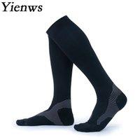 calcetines de los hombres del muslo al por mayor-venta al por mayor media de compresión para los hombres sobre la rodilla muslo calcetines altos hombre compresión calcetines largos antideslizante negro unisex YiG042