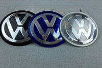 etiquetas engomadas del gt del golf al por mayor-56.5mm 65mm aluminio VW Logo Rueda Hub Hub Center Caps Emblem Styling Rueda Etiqueta Para Volkswagen bora golf GTI passat polo