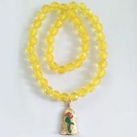 ingrosso i monili di costume della collana gialla-Fascino giallo perline di cristallo collana per vestire bambini bambini costume cosplay accessori collana pendente gioielli decorazione WX9-670