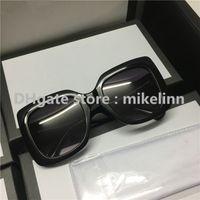 Wholesale Big Size Sunglasses - Sunglasses 0083 HIGH QUALITY ORIGINAL WHITE BOX bees Women Men Brand designer Big size fashion lady glasses famous luxury