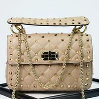 Wholesale sheepskin handbags - Luxury Handbags Women Bags Designer New Rivet Clutch Tote Bag Sheepskin Famous Brands Chains Shoulder Bags Bolsa Feminina Autumn