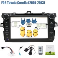 Wholesale car dvd android toyota for sale - Group buy Android Double Din Car DVD Player Stereo GPS Navigation Head Unit Autoradio Video G G WIFI Bluetooth OBD2 Mirror Link DAB