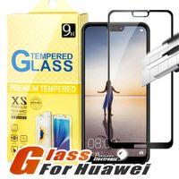 huawei p8 lite 9h toptan satış-J2 CORE için Huawei Mate 20 X P20 P10 P9 P8 Lite Pro Huawei Onur 7X Huawei ascend xt2 2.5D Tam Kapak Flim Temperli Cam Ekran Koruyucu