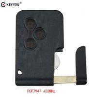 Wholesale renault megane remote key for sale - Group buy KEYYOU MHZ Remote Car Key Fob Case Buttons Remote Car Key Shell PCF7947 ID46 For Renault Megane Scenic