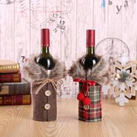 presentes do natal venda por atacado-2018 Feliz Natal Enfeites De Natal Presente Treliça Garrafa De Vinho Tampa de Brinquedo Decorações para casa Enfeites De Natal TO950