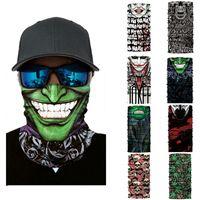 lenços engraçados venda por atacado-Ciclismo Motocicleta Cabeça Cachecol Pescoço Máscara Máscara de Esqui Máscara de Esqui Balaclava Headband Máscara Assustador Máscara Engraçada Halloween Rosto Escudo Ao Ar Livre