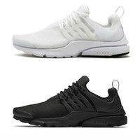 Wholesale 2018 Running Shoes Presto BR QS Womens Mens Essential Triple White Black Breathe Prestos Trainers Trainning Walking Sneakers Size